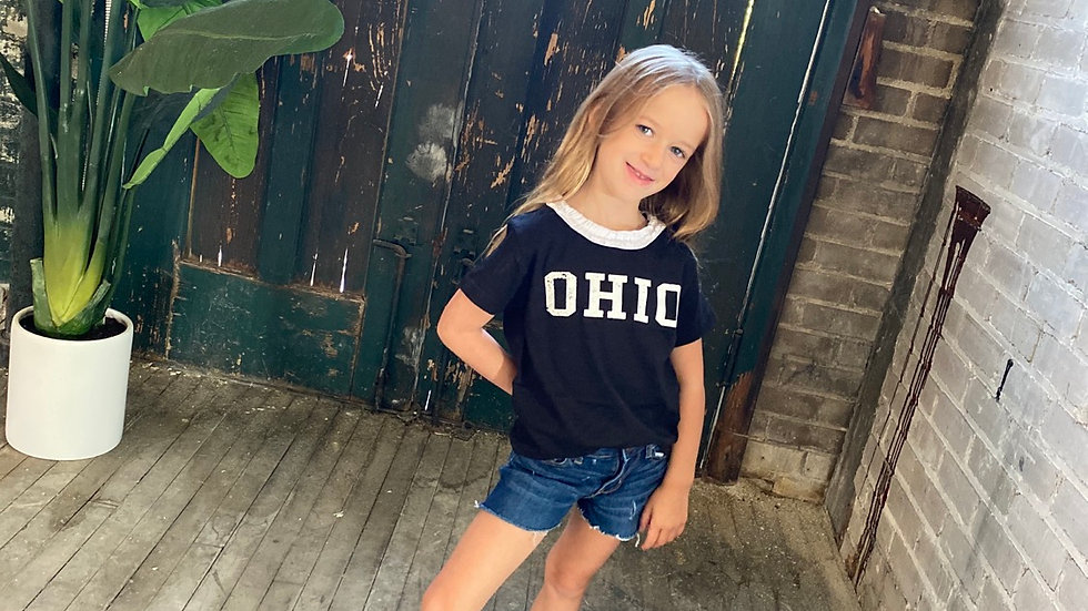 GIRLS OHIO RUFFLED TEE