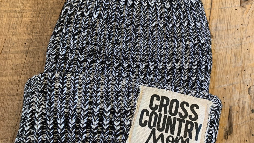 CROSS COUNTRY BLACK FLECK PATCH BEANIE