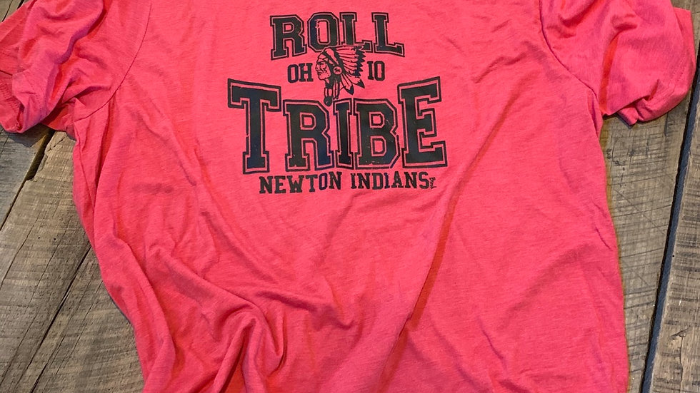 UNISEX ADULT & YOUTH RED ROLL TRIBE NEWTON TRIBLEND TEE