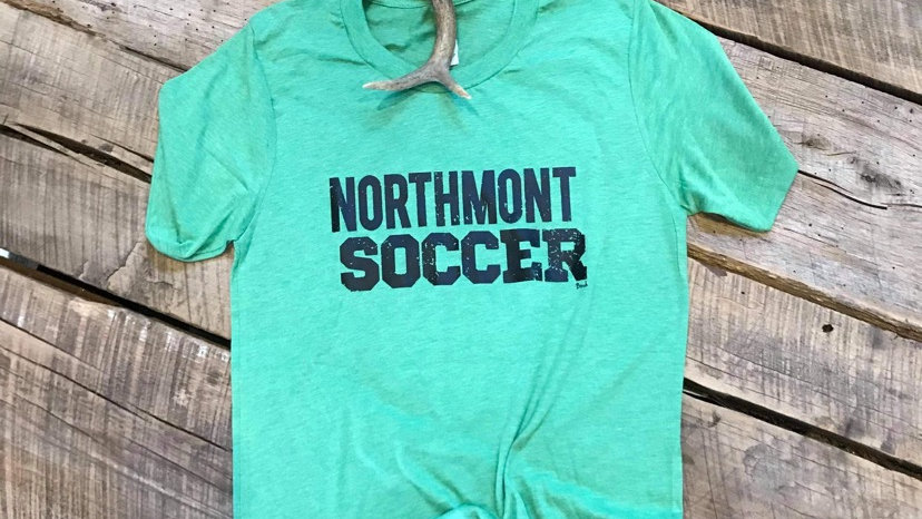 UNISEX ADULT & YOUTH NORTHMONT SOCCER GREEN TRIBLEND TEE
