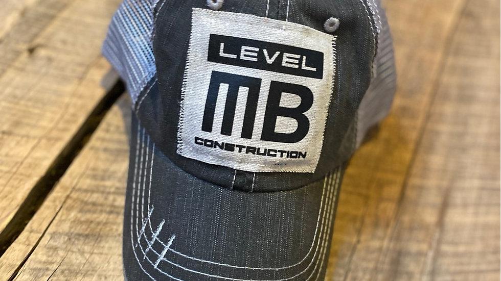 LEVEL MB BLACK VINTAGE PATCH HAT