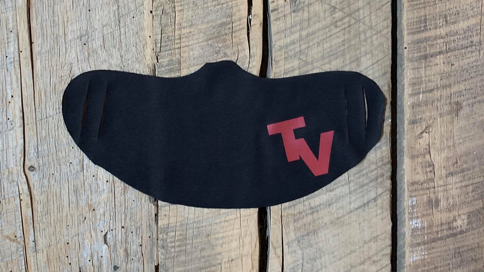 Tri-Village red TV face mask
