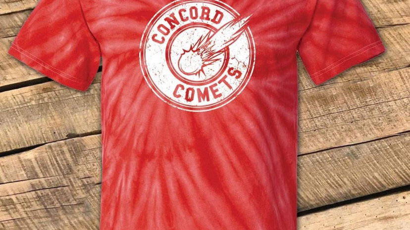 UNISEX ADULT & YOUTH CONCORD RED TIE DYE TEE CF