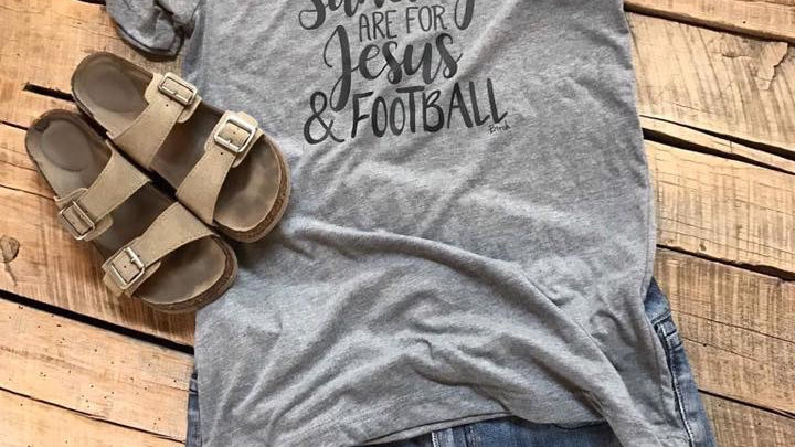 Sunday's are for Jesus and Football Unisex Tee