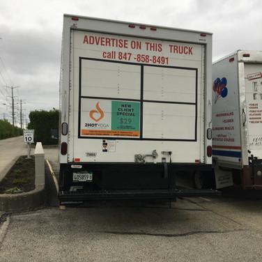 2 Hot Yoga Large Truck Advertisement
