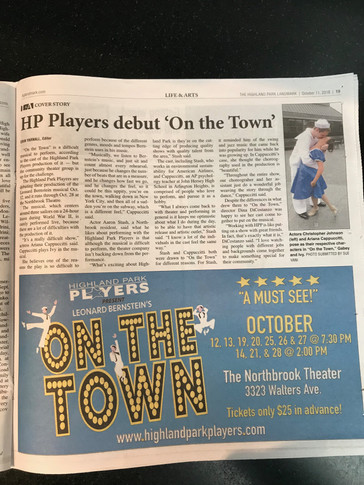 On the Town Newspaper Ad