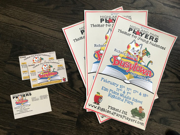 Busytown Ad and Postcards