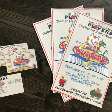 Highland Park Players Busytown Ads
