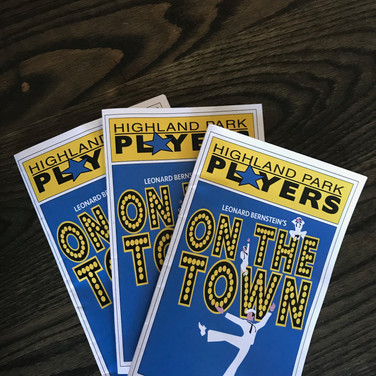 Highland Park Players On the Town Program
