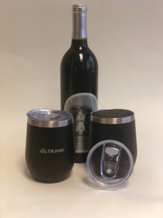 Branded Stainless Wine Tumblers with Slide Open/Close Top
