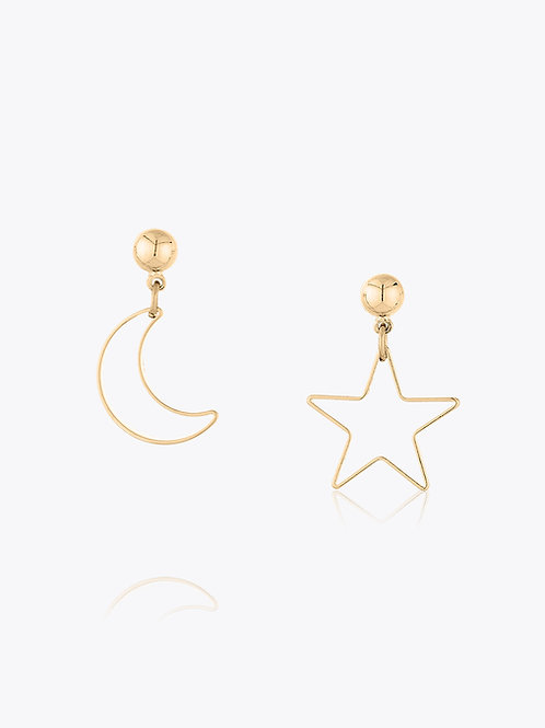 Brinco Versátil de Estrelas e Luas