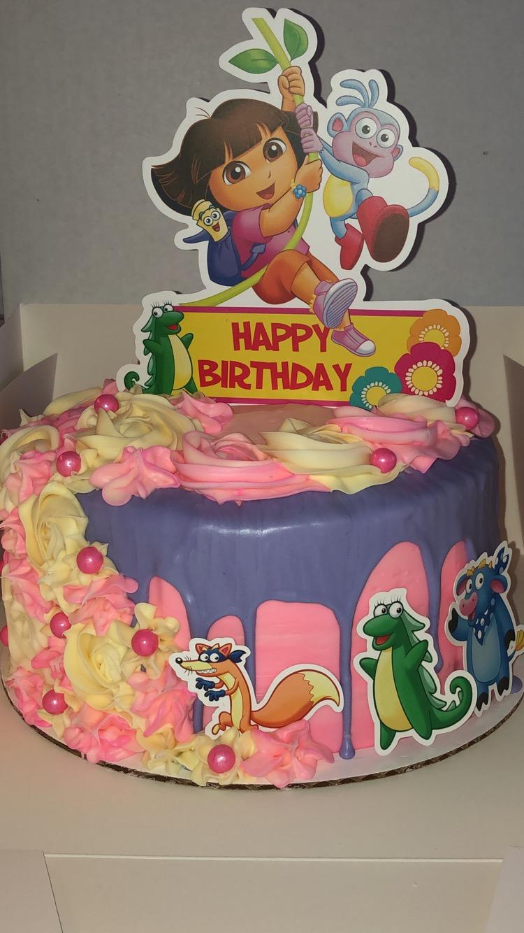 dora drip cake