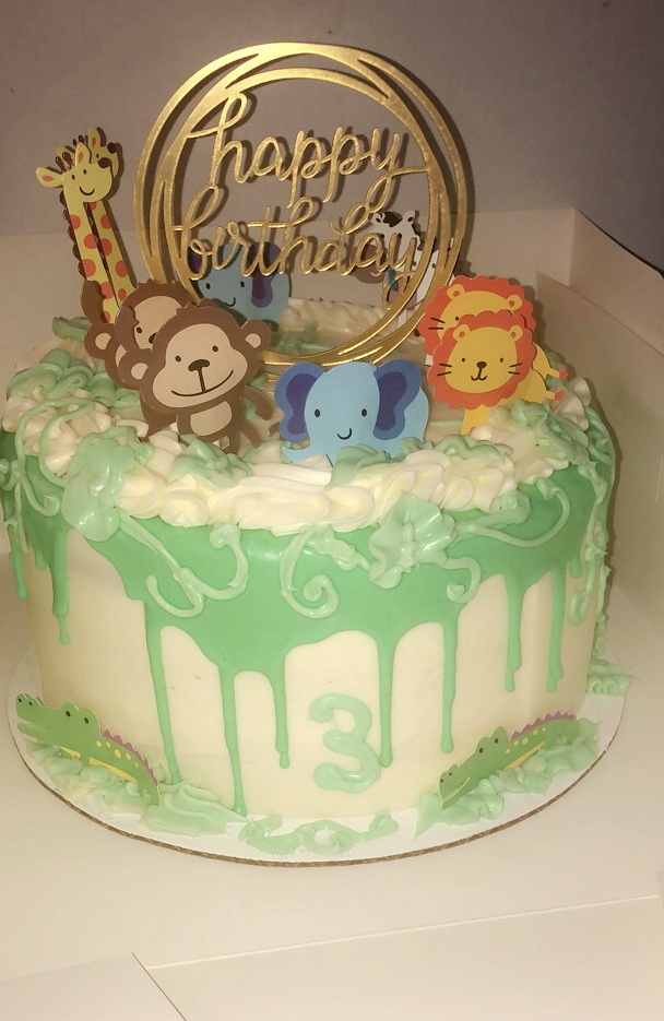 Zoo themed cake