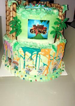 2 tier Rugrats gone wild cake