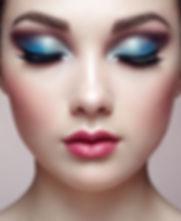 Beautiful young woman makeup Stock Photo