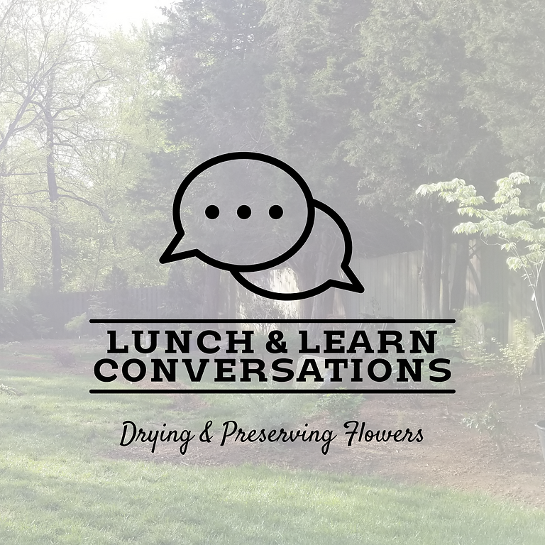 Lunch & Learn Conversations: Drying & Preserving Flowers