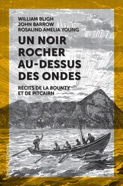 UN NOIR ROCHER AU-DESSUS DES ONDES