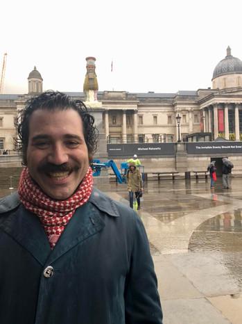 Michael Rakowitz dévoile une statue anti-ISIS à Trafalgar Square