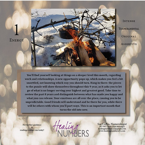 Personal Year 9 Calendar