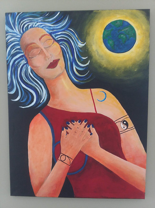 Soul on Canvas 24x18 with Reading
