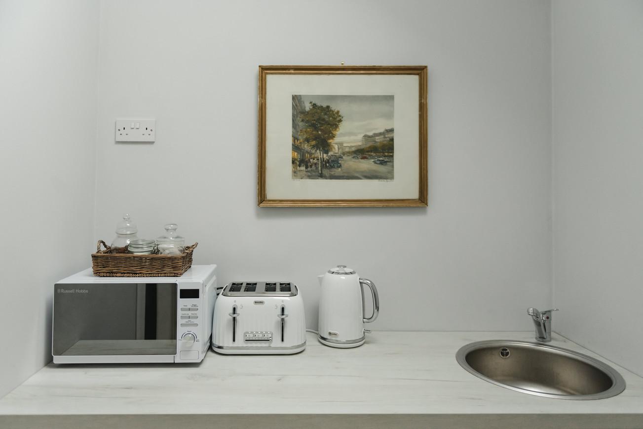 The Studio's kitchenette
