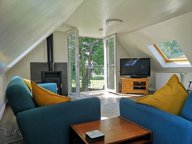 Lounge area in the Cottage