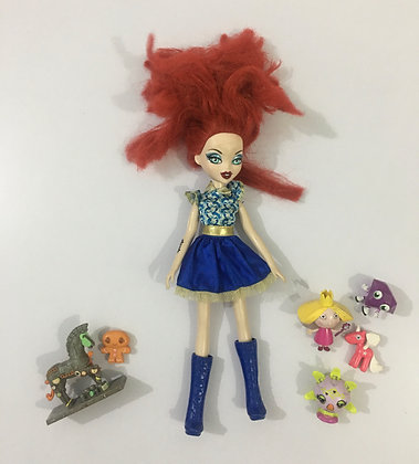 Barbie Doll Red Hairs  (Blue and Red)