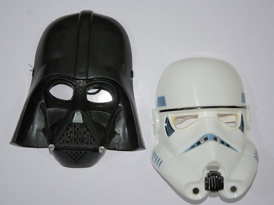 Star Wars Mask for Kids Roleplay and Costume whilte and black