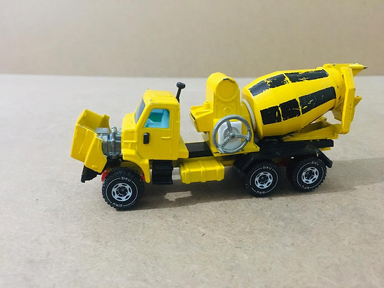 Yellow Metal Construction Truck