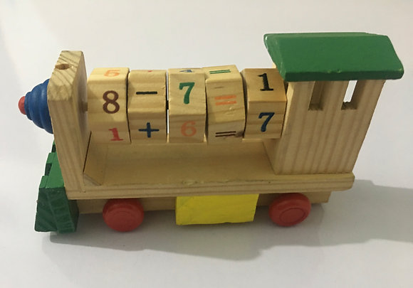 Kids Educational Wooden Train Engine