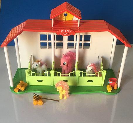 Kids Pony Farm House Play