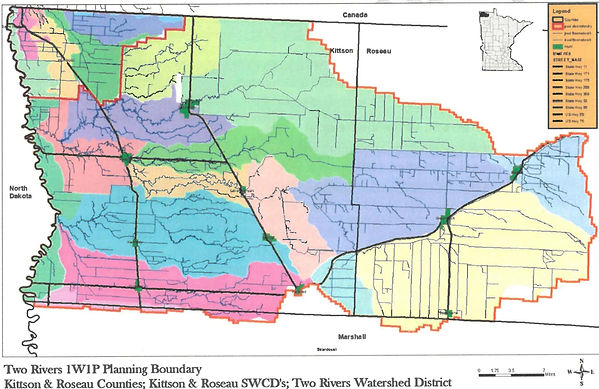 Planning Zones within the Two Rivers Plus 1W1P planning boundary
