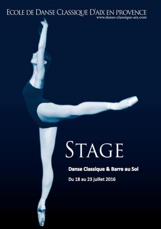 Stage d'été & Inscriptions 2016