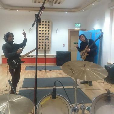 Recording with Benji and Tony Glasgow
