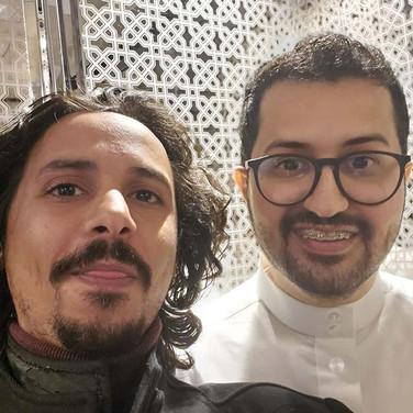 "With Cartonist Malik Najr ""Masameer"