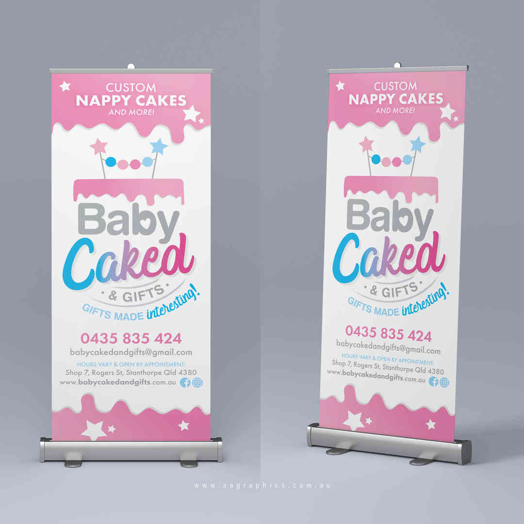 AA Graphics_Pull Up Banner_Baby Caked an