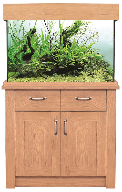 AquaOne Oakstyle 145L Aquarium and Cabinet