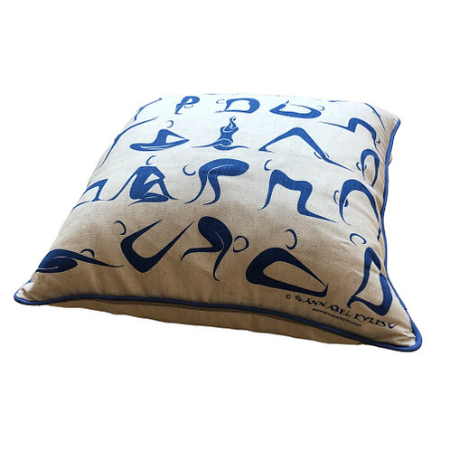Yoga Poses Cushion Cover