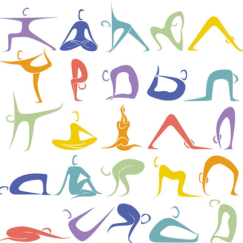 Joyful Yoga Poses Print Small