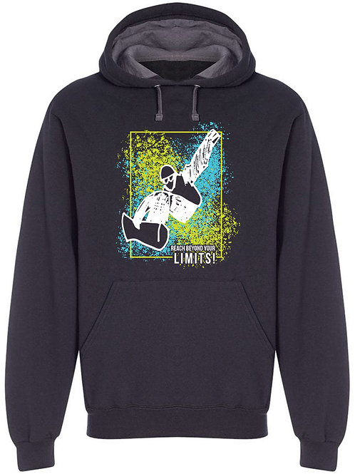 Reach beyond your limits 1 Men's Black Hoodie