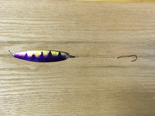 Purple Tiger Spoon w/ Slow Death Hook