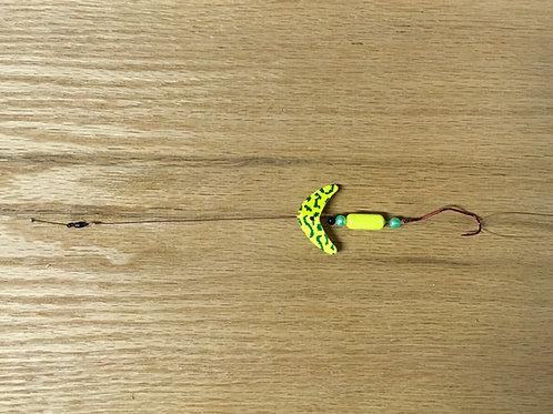 Chartreuse Smile Blade, Floating w/ Slow Death Hook