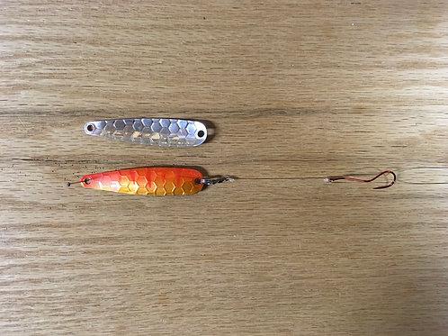 Fire Orange Spoon w/Slow Death Hook