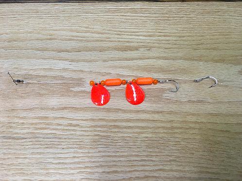 Orange Crushem Floating Worm Harnes