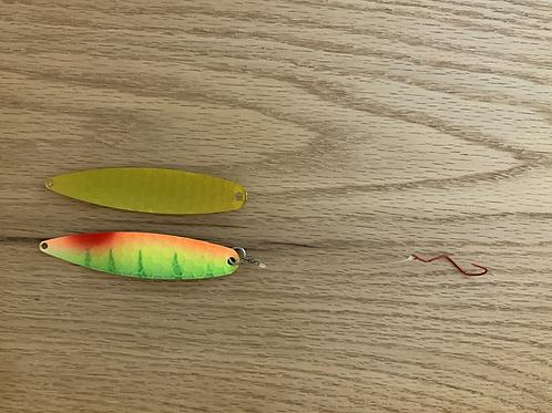 Fire Tiger w/ Antifreeze Back Spoon w/ Slow Death Hook