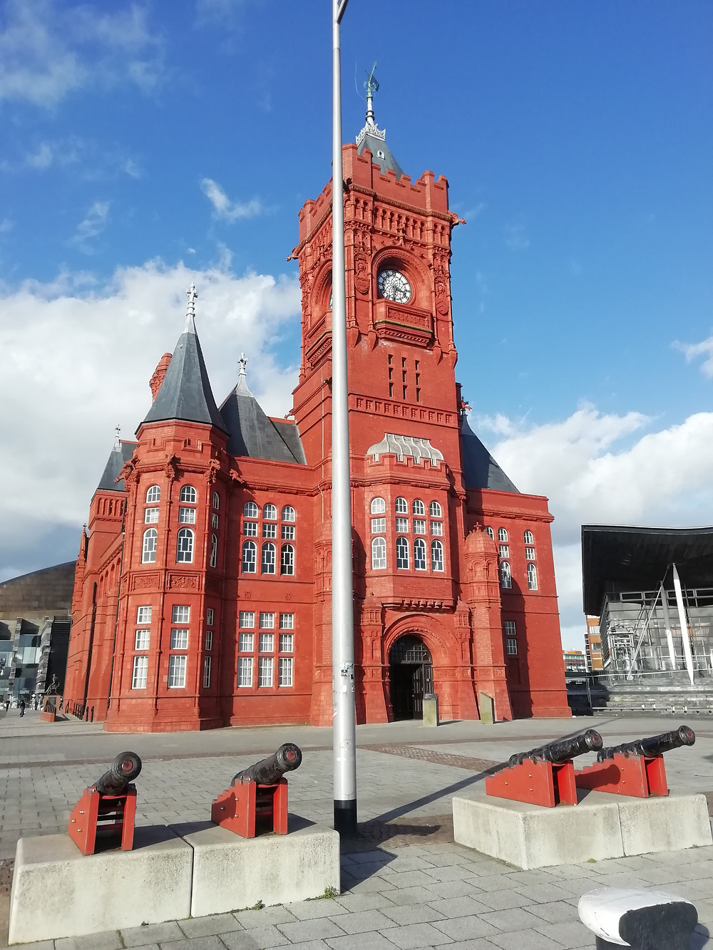 The Pierhead building in Cardiff Bay.