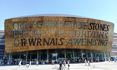 The Wales Millenium Centre in Cardiff Bay