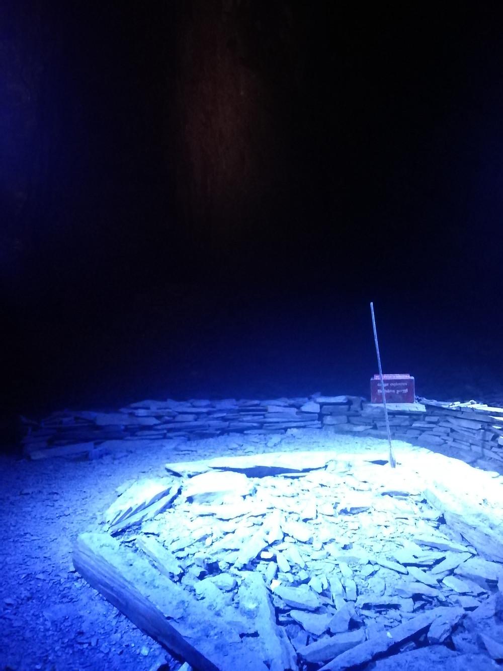 Inside Llechwedd slate mine, near Blaenau Ffestiniog