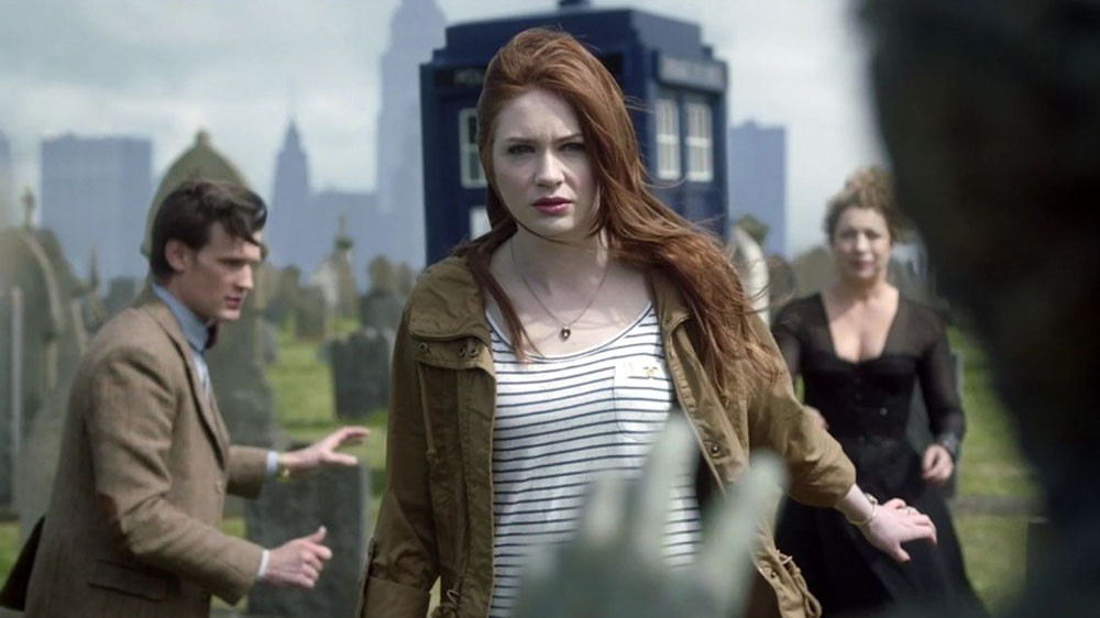 Karen Gillan as Amy Pond in Doctor Who Series 7 episode, 'The Angels Take Manhattan'