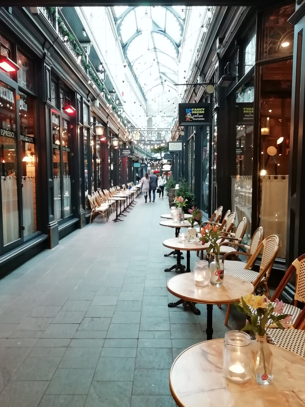 One of Cardiff's seven iconic arcades, Castle Arcade